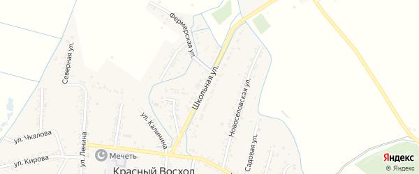 Школьная улица на карте села Красного Восхода с номерами домов
