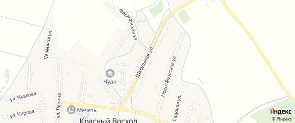 Школьная улица на карте Кизляра с номерами домов