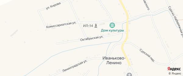 Октябрьская улица на карте села Иваньково-ленина с номерами домов