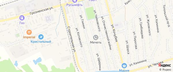 Улица Глинки на карте Кизляра с номерами домов