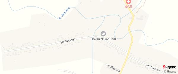 Улица Хирлеп на карте деревни Малые Туваны с номерами домов