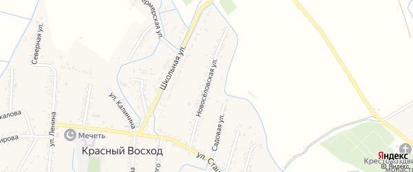 Новоселовская улица на карте поселка им Жданова с номерами домов