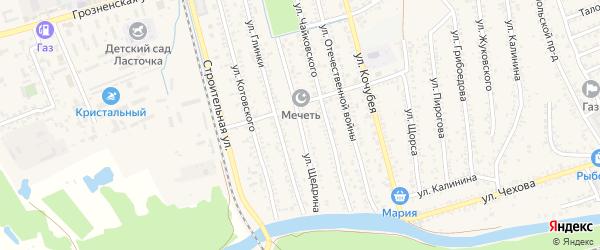Улица Щедрина на карте Кизляра с номерами домов
