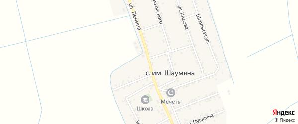 Улица Ленина на карте Нововладимировского села с номерами домов