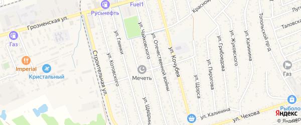 Улица Чайковского на карте Кизляра с номерами домов