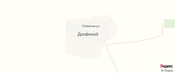 Дрофинная улица на карте Дрофиного поселка с номерами домов
