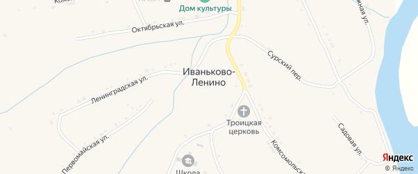 Сурско-Набережная улица на карте села Иваньково-ленина с номерами домов