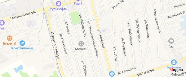 Улица Отечественной Войны на карте Кизляра с номерами домов