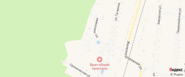 Улица Николаева на карте поселка Алтышево с номерами домов