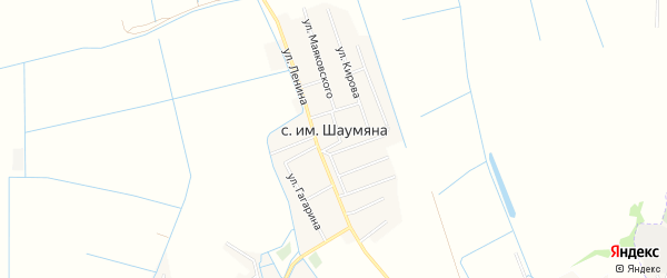 Карта села Имени Шаумяны в Дагестане с улицами и номерами домов