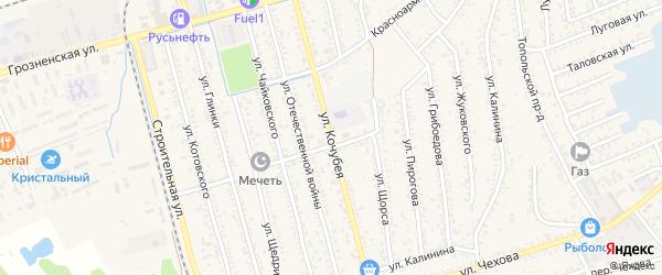 Улица Кочубея на карте Кизляра с номерами домов