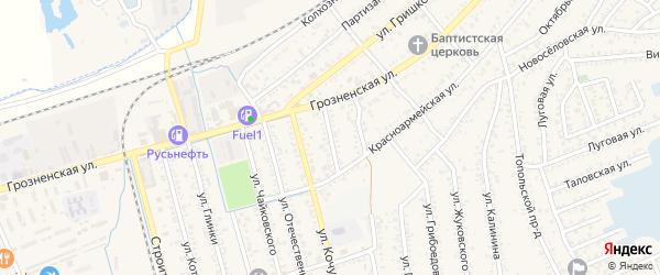 Улица Пархоменко на карте Кизляра с номерами домов