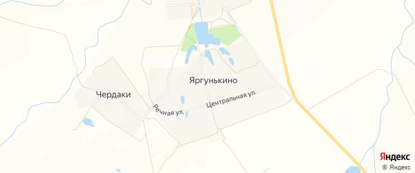 Карта деревни Яргунькино в Чувашии с улицами и номерами домов