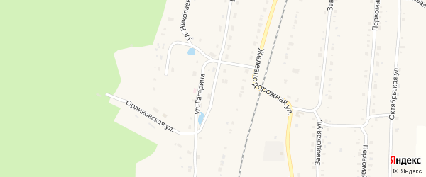 Улица Гагарина на карте поселка Алтышево с номерами домов