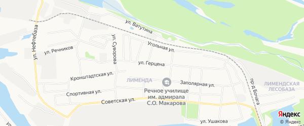 ГСК N116 на карте улицы Герцена с номерами домов