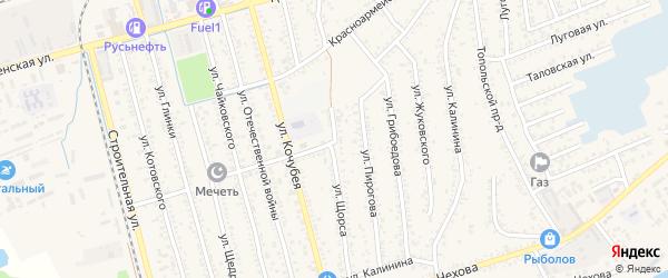 Улица Щорса на карте Кизляра с номерами домов