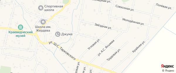 Улица Шихабова Вагаба Батырхановича на карте села Ботаюрта с номерами домов