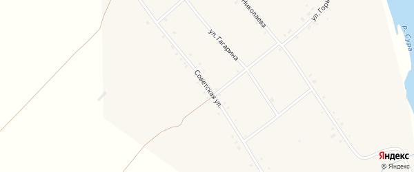 Советская улица на карте села Иваньково-ленина с номерами домов