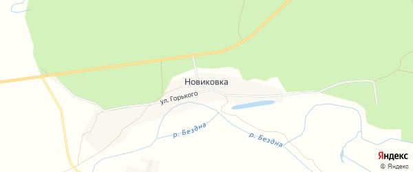 Карта поселка Новиковки в Чувашии с улицами и номерами домов
