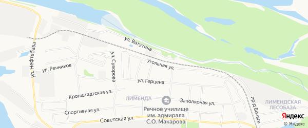 ГСК N29 на карте Угольной улицы с номерами домов