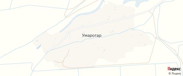 Окружная улица на карте села Умаротара с номерами домов