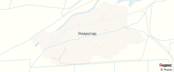 Северная улица на карте села Умаротара с номерами домов