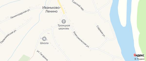 Комсомольская улица на карте села Иваньково-ленина с номерами домов