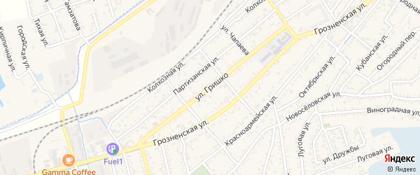 Улица Гришко на карте Кизляра с номерами домов