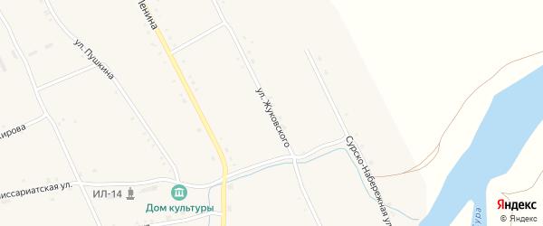Улица Жуковского на карте села Иваньково-ленина с номерами домов