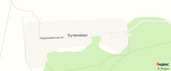 Первомайская улица на карте поселка Кученяево с номерами домов
