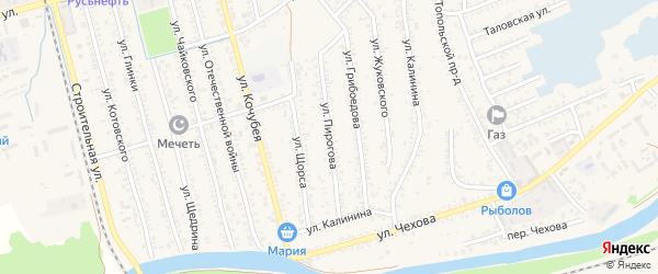 Улица Пирогова на карте Кизляра с номерами домов