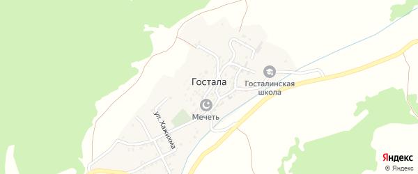 1-я линия на карте села Госталы с номерами домов