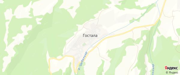 Карта села Госталы в Дагестане с улицами и номерами домов
