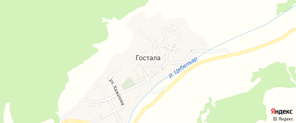 2-я линия на карте села Госталы с номерами домов