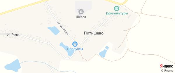 Улица Войкова на карте деревни Питишево с номерами домов