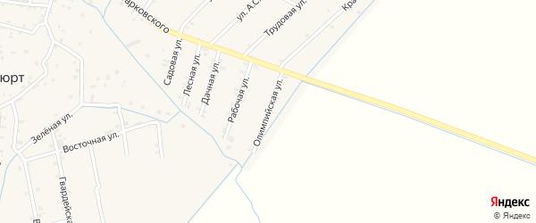 Олимпийская улица на карте села Ботаюрта с номерами домов