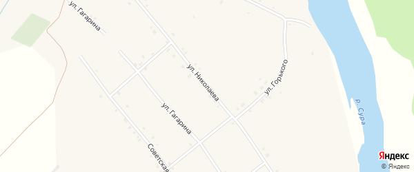Улица Николаева на карте села Иваньково-ленина с номерами домов