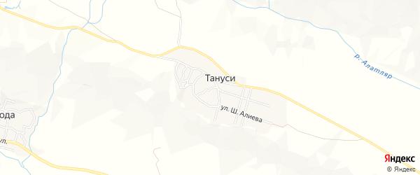 Карта села Тануси в Дагестане с улицами и номерами домов