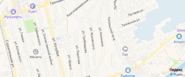 Улица Жуковского на карте Кизляра с номерами домов