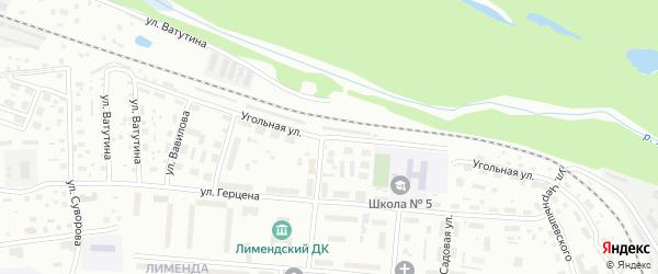 Угольная улица на карте Котласа с номерами домов