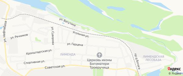 ГСК N14 на карте Угольной улицы с номерами домов