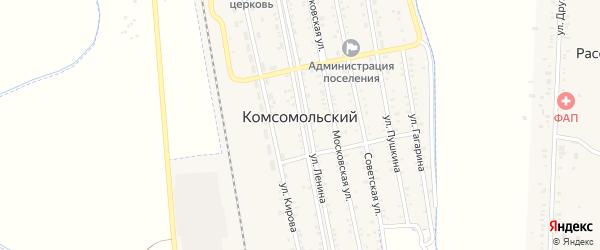 Улица Тупик на карте Комсомольского поселка с номерами домов