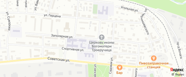 Заполярная улица на карте Котласа с номерами домов