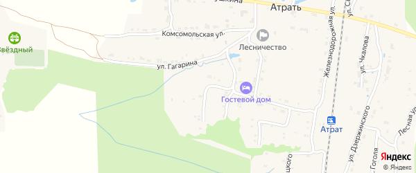 Улица Гагарина на карте поселка Атрать с номерами домов