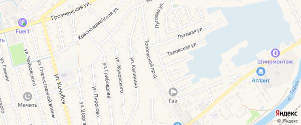 Топольской проезд на карте Кизляра с номерами домов