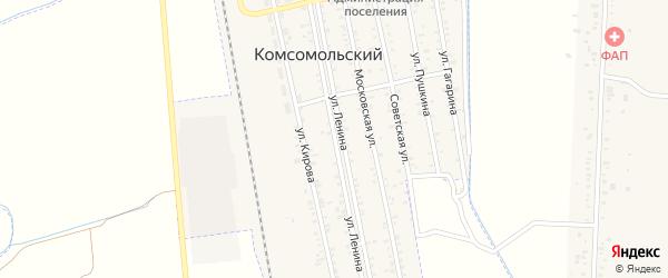 Улица Ленина на карте Комсомольского поселка с номерами домов