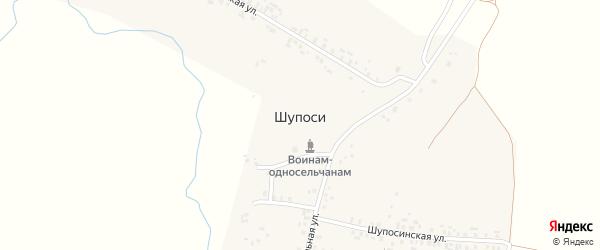 Улица Орлова на карте деревни Шупоси (Сятракасинское с/п) с номерами домов