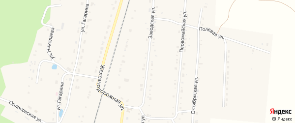 Заводская улица на карте поселка Алтышево с номерами домов