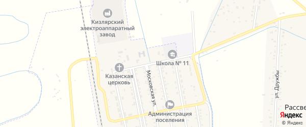Школьный переулок на карте Комсомольского поселка с номерами домов
