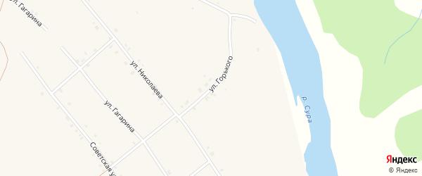 Улица Горького на карте села Иваньково-ленина с номерами домов